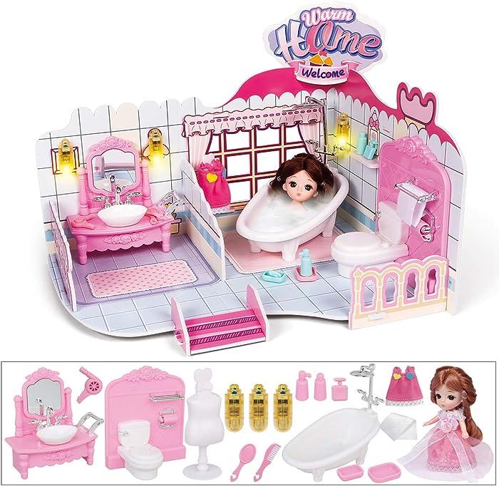 Top 9 Mini Doll Bathroom Mini Dollhouse Furniture