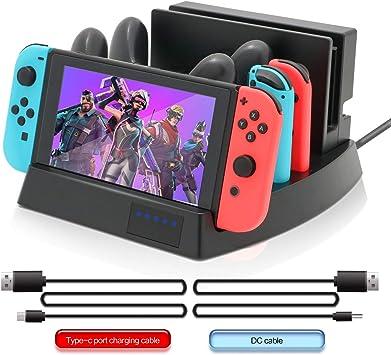 Base de Carga para Nintendo Switch, Charge 2 Nintendo Switch, 2 Joy-Cons, 2 Controladores Pro con 1 Cable USB C y 1 Cable DC: Amazon.es: Electrónica