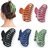 5 Pcs Big Hair Claw Clips, Proxima Direct Nonslip Hair Claw Banana Matte Plastic Girls Hair Claw Clips Jaw, Strong Hold…
