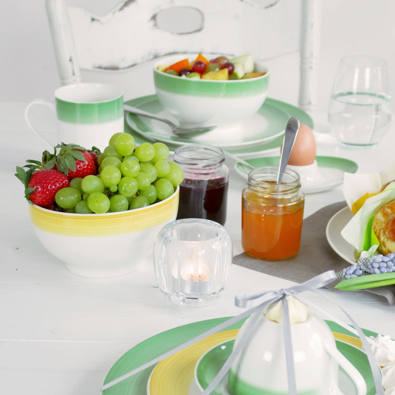 White//Grey Villeroy /& Boch Colourful Life Cosy Grey French Bowl Premium Porcelain