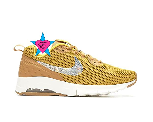 Amazon.com  Custom Clear Crystal Bling Gold NIKE WOMENS AIR MAX MOTION   Handmade a5994cd5f