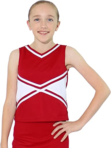 Danzcue Womens 2-Color Kick Sweetheart Cheerleaders Uniform Shell Top