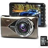 Innoo Tech  ドライブレコーダー 1200万画素 16GBmicroSDカード付属 車載カメラ ドラレコ 1296PフルHD  4インチ大画面  170度広角  Gセンサー搭載 LDWS&FCWS 衝撃録画 駐車監視機能
