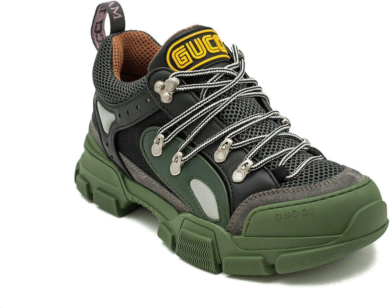 Gucci Flashtrek - Zapatillas Deportivas para Hombre, Color Verde y Negro, Verde (Verde), 41.5 EU: Amazon.es: Zapatos y complementos