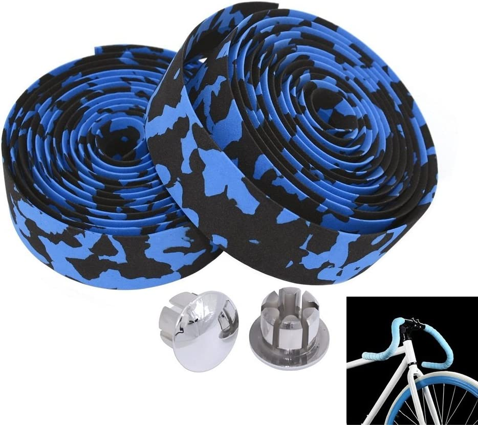 Skid-proof Strap with Mountain Bike with Bar Plugs 2 PCS MBrisk Camouflage Series Bike Parts Sponge Pattern Foam Handle Strap