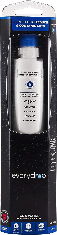 EveryDrop by Whirlpool Refrigerator Water Filter 6 (Pack of 1) (Renewed)