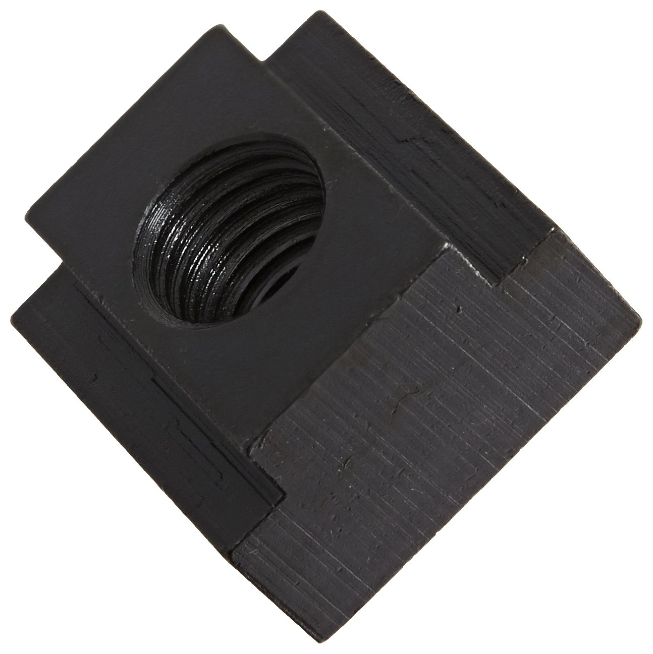 1018 Steel T-Slot Nut, Black Oxide Finish, Grade 10, 1''-8 Threads, 1-1/4'' Height, 1-1/4'' Slot Depth, Made in US (Pack of 2)