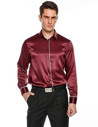 Long Sleeve Satin Shirts