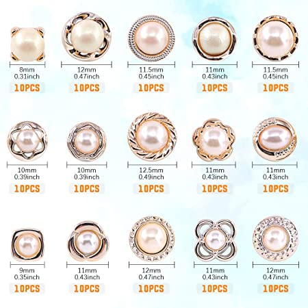 One Card of 12  Small Antique Pearl Buttons approx 14 inch A-62008 Box 1