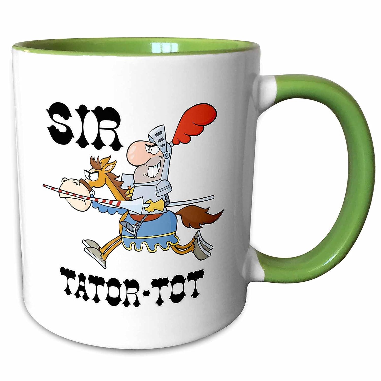 3drose Mug 203631 _ 7 Funny Knight Sir Tator Tot、グリーン、11オンス   B073X85VHN