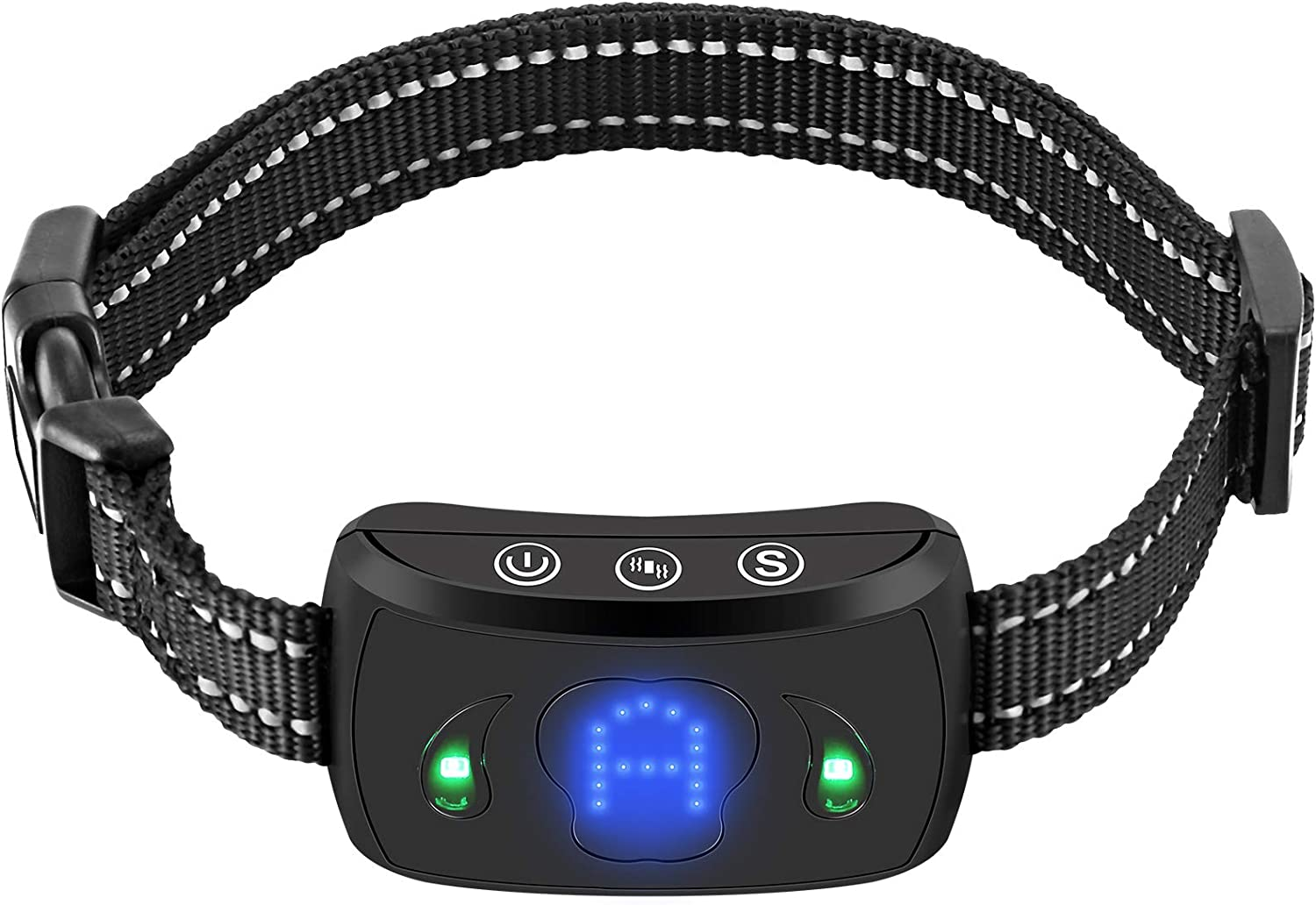 Beep Safe Humane Auto Bark Correction Rechargeable Shock Collar for Dogs in Small Medium and Large Sizes Shock Modes Vibration Dog Bark Collar No Barking Collar with 5 Adjustable Sensitivity