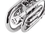 EastRock Pocket Trumpet Brass Nickel Plated Bb