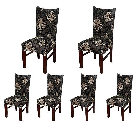 6 x morbido spandex elasticizzato Fit sedie da sala da pranzo con ...