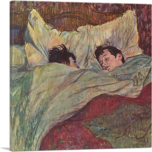 Henri Toulouse Lautrec In Bed Wall Art Poster Print