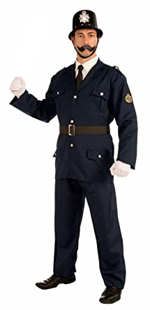 Forum Novelties Menu0027s British Bobbie Costume Police Uniform Blue X-Large  sc 1 st  Amazon.com & Amazon.com: Forum Novelties Menu0027s British Bobbie Costume Police ...