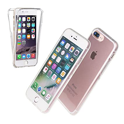 release date aaddd b330b AMPLE® iPhone 7 PLUS / 8 PLUS Ultra Thin 360 Case [Full Front and Back  Protection] Transparent Cover - Clear