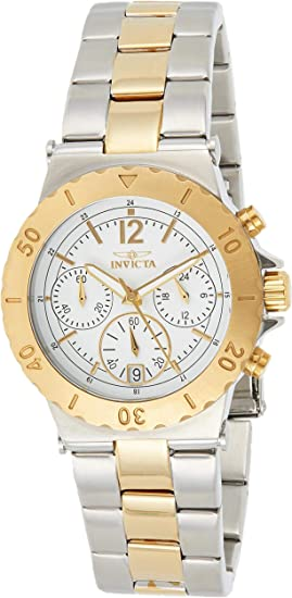 Invicta Women's Specialty 38mm Steel and Gold Tone Stainless Steel Quartz Watch, Two Tone (Model: 14855)