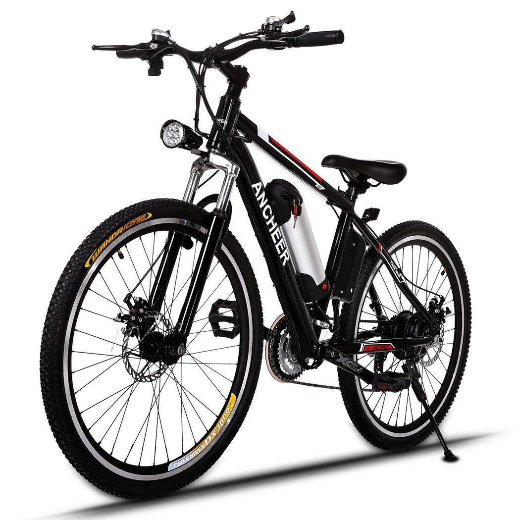 Bicycle Electric Folding Mountain Bike 250W 25Inch Black/Red