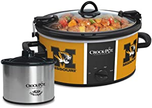 Crock-pot SCCPNCAA603-MUT Missouri University Tigers Slow Cookers, White