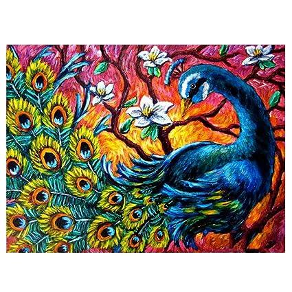 Amazon com: GMYANZSH Diamond Drawing Diamond Painting Peacock