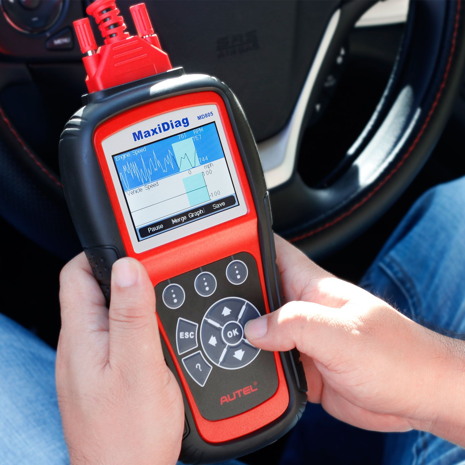 Autel MaxiDiag MD805 (Autel MD802)Scan tool All System Engine, Transmission, ABS, Airbag,EPB,OIL Service Reset & Electronic modules by Autel (Image #1)