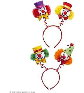 Zirkus Kopfschmuck rot-gelb Clown Haarreif Clownkostüm Kopfbügel Harlekin