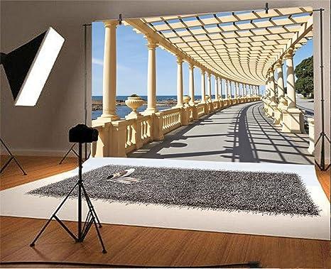 YongFoto 3x2m Vinilo Fondos Fotograficos Corredor Pergola en ...