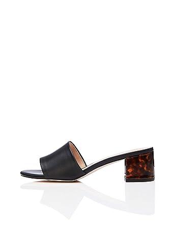 3ed7f33c888d Amazon.com  find. Women s Block Heel Mule Open-Toe Sandals Black ...