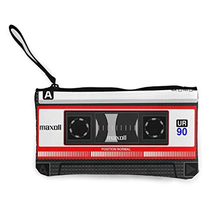 TTmom Carteras de Mujer,Monedero,Cassette Tape Unisex Canvas ...