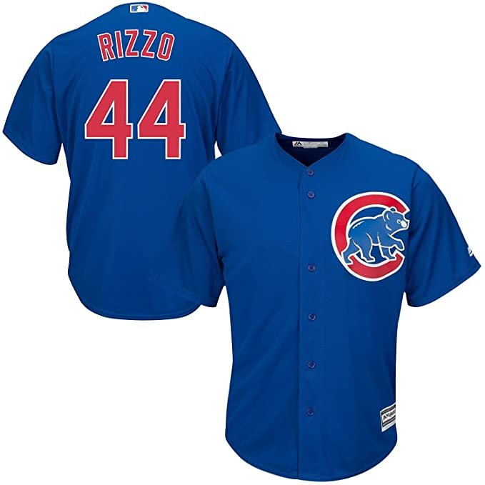 new concept 39d99 bbbc9 Majestic Anthony Rizzo Chicago Cubs MLB Youth Blue Alternate Cool Base  Replica Jersey