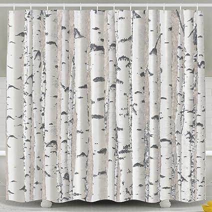Amazon MdsdWXza Plant Birch Tree Trunk Fashion Shower Curtain