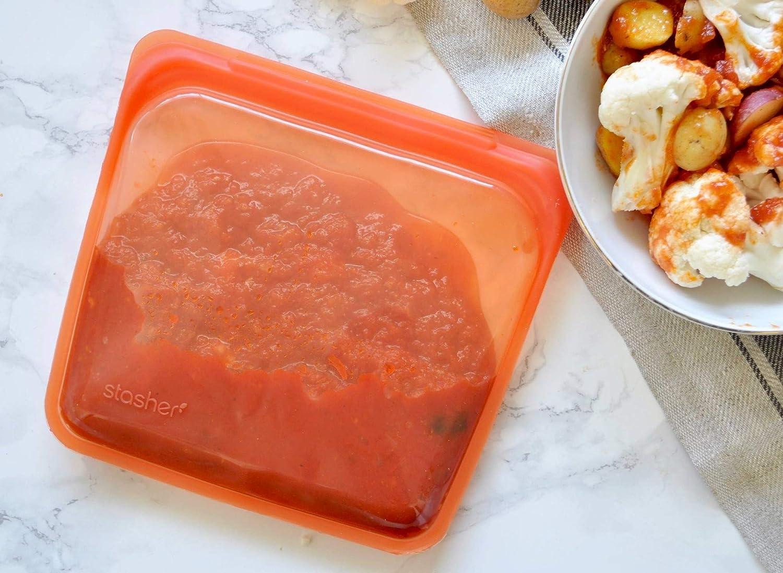 Stasher - Bolsa de silicona reutilizable para cocinar ...