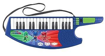 PJ Masks (K280PJM Guitarra Teclado Musical Keytar de los Pijamasks, a Partir de 3 años, Multicolor (Lexibook