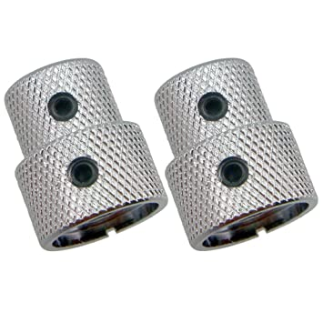 Sharplace 2 pcs Botón de Control de Volumen Tono para Guitarra Eléctrica Bajo - Latón, 24 x 19.2 mm - Plata: Amazon.es: Instrumentos musicales