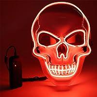 Vivibel LED Máscaras Halloween, Luminosa Craneo Esqueleto Mascaras, LED Máscaras Carnaval con 3 Modos de Iluminación…