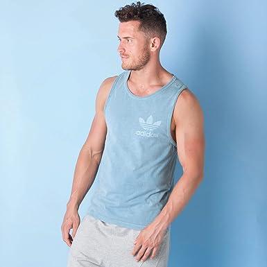 Adidas De Hombre Camiseta Para X Small Claro Tirantes Azul b7yY6gf