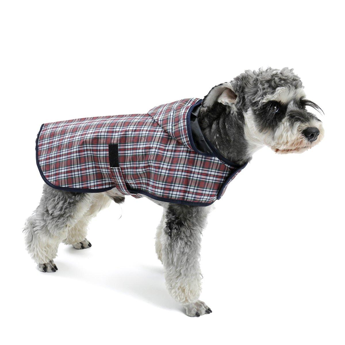 OHANA Haustier Hunde Regenmantel Wasserdichte Warm Hunde Regenjacke für Kleine Mittlere Hunde mit 4 Größen