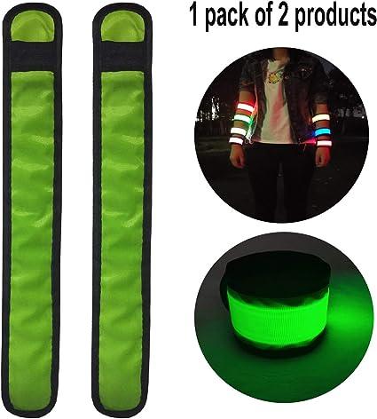 LED Flashing Slap Bracelet High Visibility Outdoor Sports Light Wristband Strap