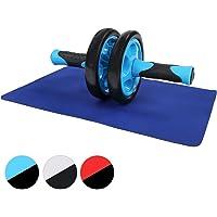 Physionics® Attrezzo Addominali Doppia Ruota AB Wheel Roller con Tappetino Colore a Scelta