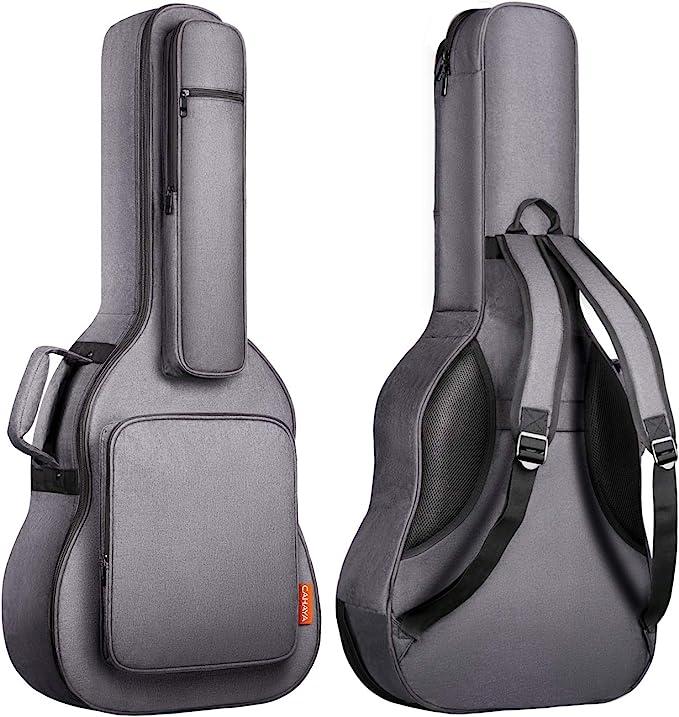 CAHAYA Funda de Guitarra Universal [Última Versión Reforzada] Bolsa Guitarra Acolchada 18mm con 5 Bolsillos para Guitarra Acústica Clásica: Amazon.es: Instrumentos musicales