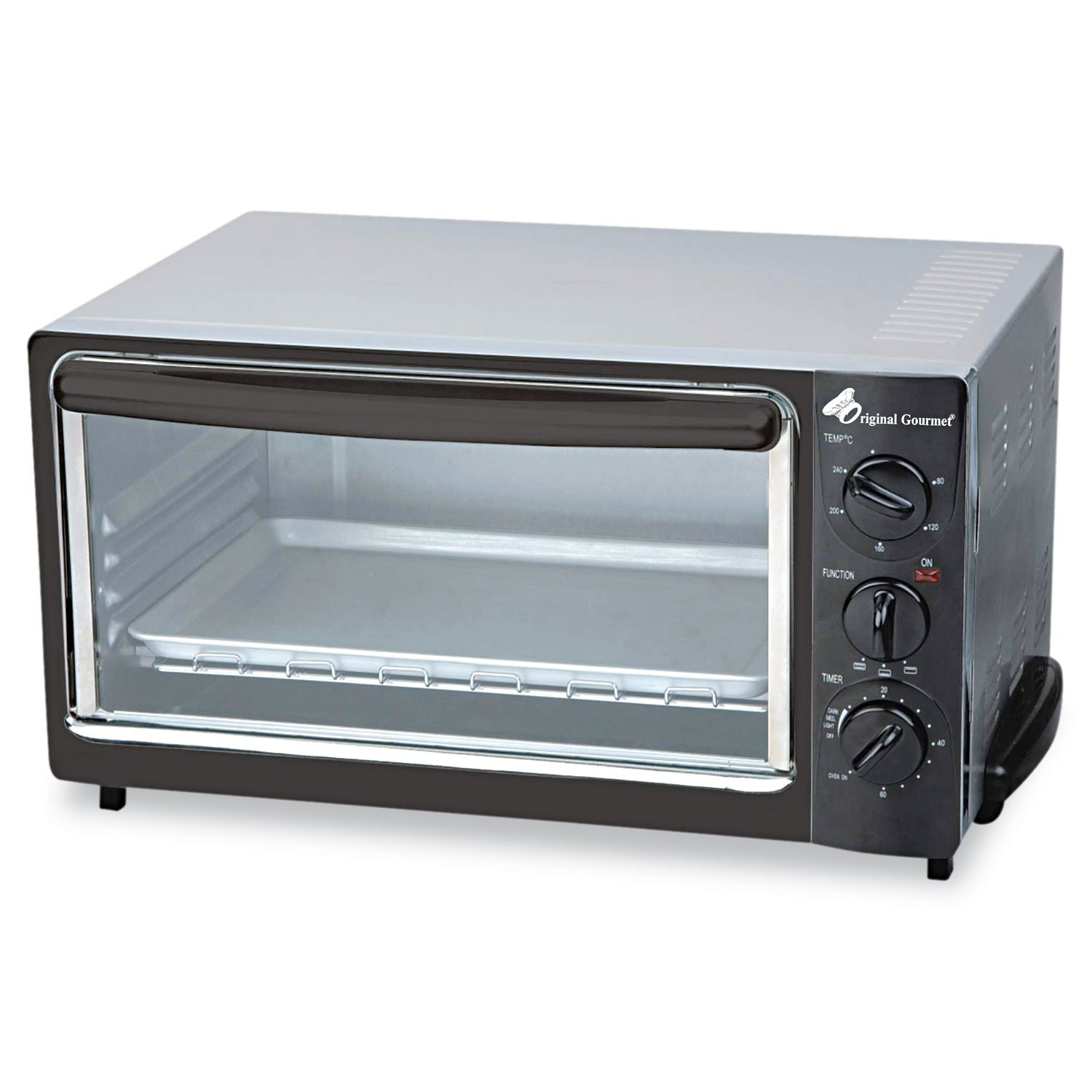 Coffee Pro OG22 Multi-Function Toaster Oven with Multi-Use Pan, 15 x 10 x 8, Black/Stainless