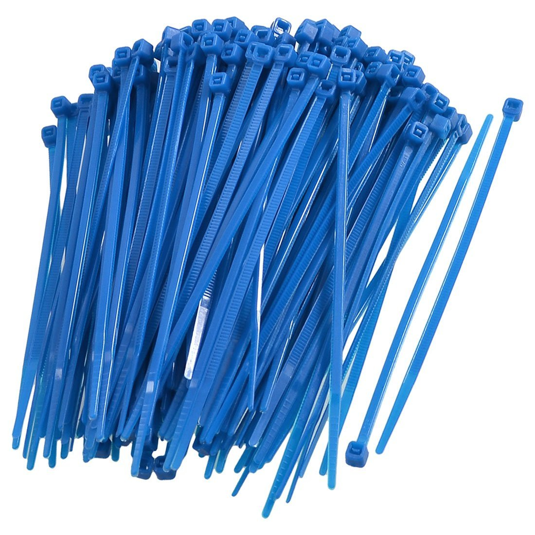 Uxcell Nylon Adjustable Self locking Cable Ties 2.5 x 100 mm Blue 200 Piece