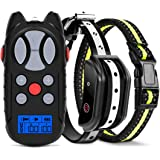 Flittor Shock Collar for Dogs, Dog Training Collar, Rechargeable Dog Shock Collar with Remote, 3 Modes Beep Vibration and Sho