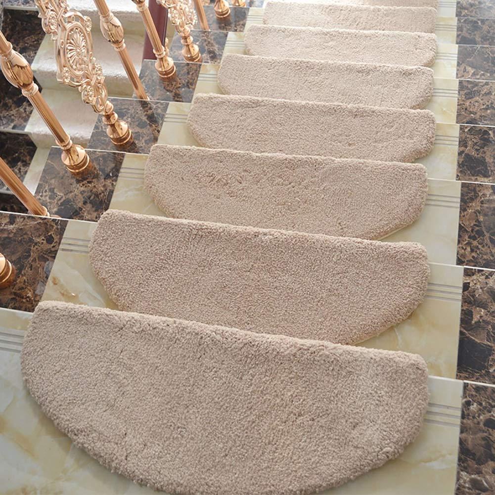 カーペット, ノンスリップカーペットの階段の踏み台のマット、階段マットカーキ、1ピース、5ピース、10ピース - カスタマイズ可能 (色 : 10 pieces, サイズ さいず : 24x64x3cm) 24x64x3cm 10 pieces B07LCMTZW1