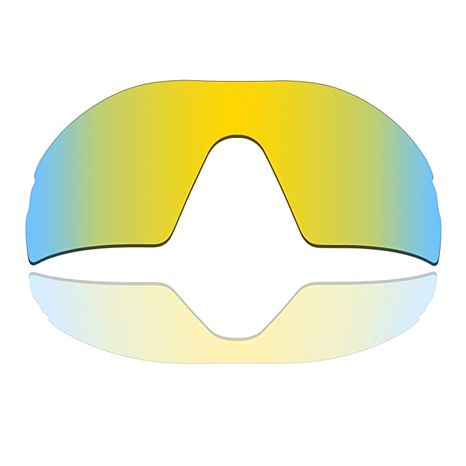 89ad3c25dc Polarized Replacement Lenses for Oakley Radar Pitch - 24K Gold Mirrored  Coating