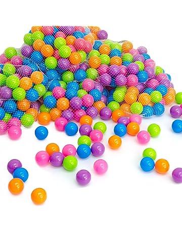 LittleTom Pelotas multicolores de plástico Ø5,5cm de diámetro | 50 pequeñas Bolas de colores