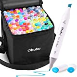 120 Colors Alcohol Color Markers of Ohuhu, Double Tipped Marker Set for Kids Coloring, Alcohol-based Sketch Sketching…