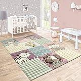 Tappeto Per Bambini Camera Dei Bambini Taglio Sagomato Animali Divertenti Variopinto Colori Pastello, Dimensione:80x150 cm