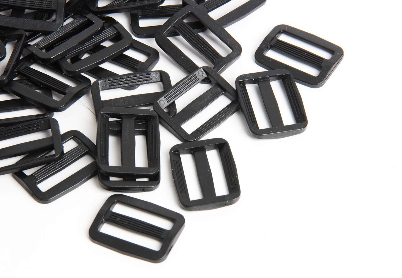 Dog Collars,1 inch Black Happy Shop 200 Pieces Plastic Triglide Slides for Bag Straps