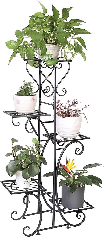 unho Estantería de Hierro para Macetas Soporte de Flores Plantas para Decoración Exterior Interior Jardín con 5 Niveles 107 x 57 x 22cm: Amazon.es: Jardín